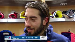 Mika Zibanejad Discusses Going Up Against Connor McDavid's Line | New York Rangers | MSG Networks
