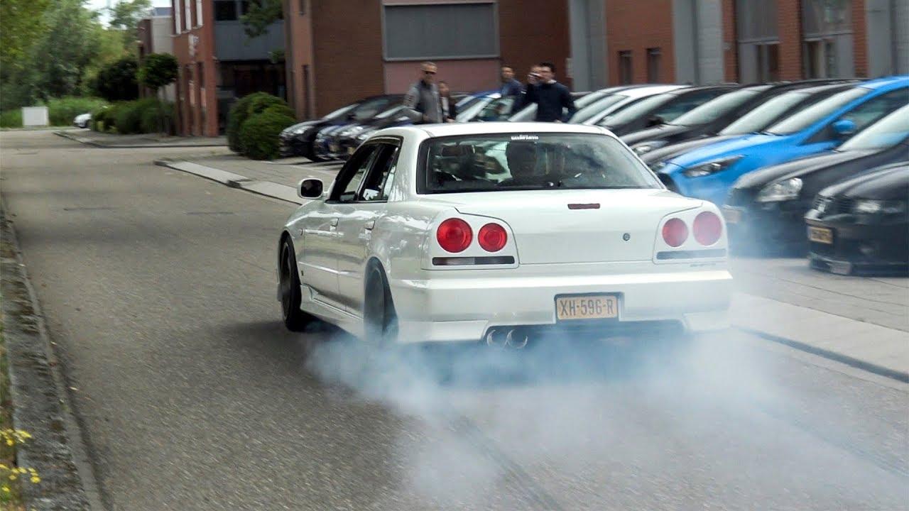 Download BEST OF (RB26) Nissan Skyline R34 4door - EPIC BURNOUTS, Drag Race, etc!