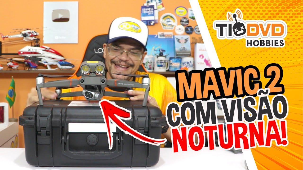 DRONE COM VISÃO NOTURNA DJI MAVIC ENTERPRISE COM CAMERA DUAL TERMOGRÁFICA FLIR E 4K