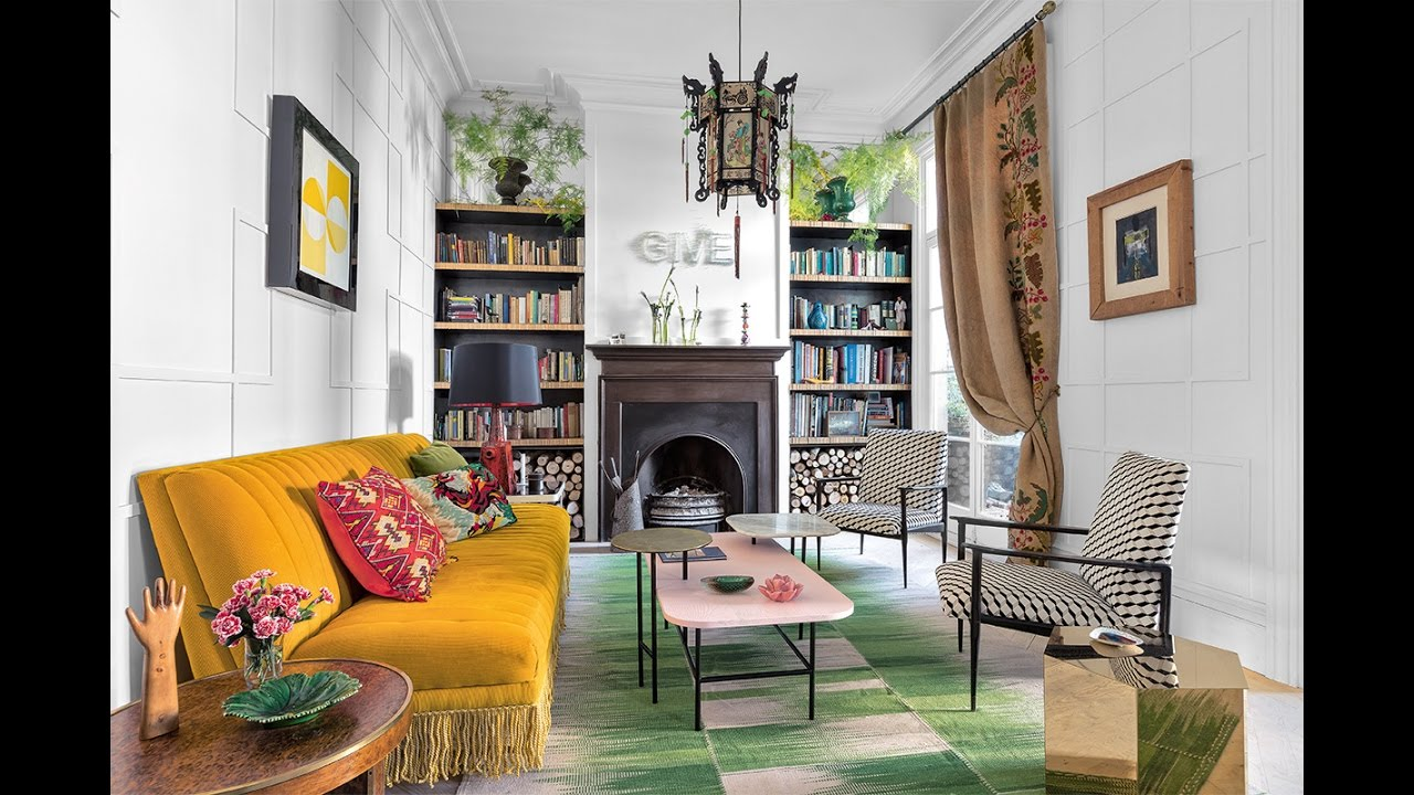 Colorful eclectic decor in classic home madrid 🍍