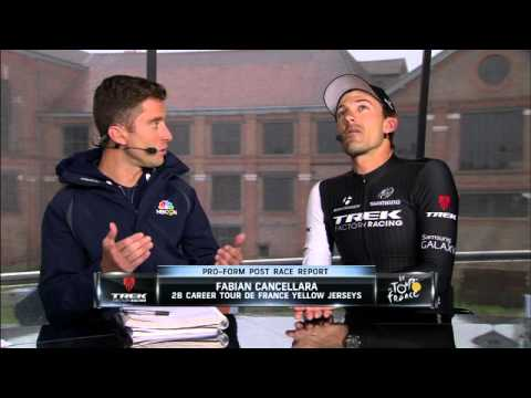 Fabian Cancellara Tour de France stage 5 post race interview - YouTube