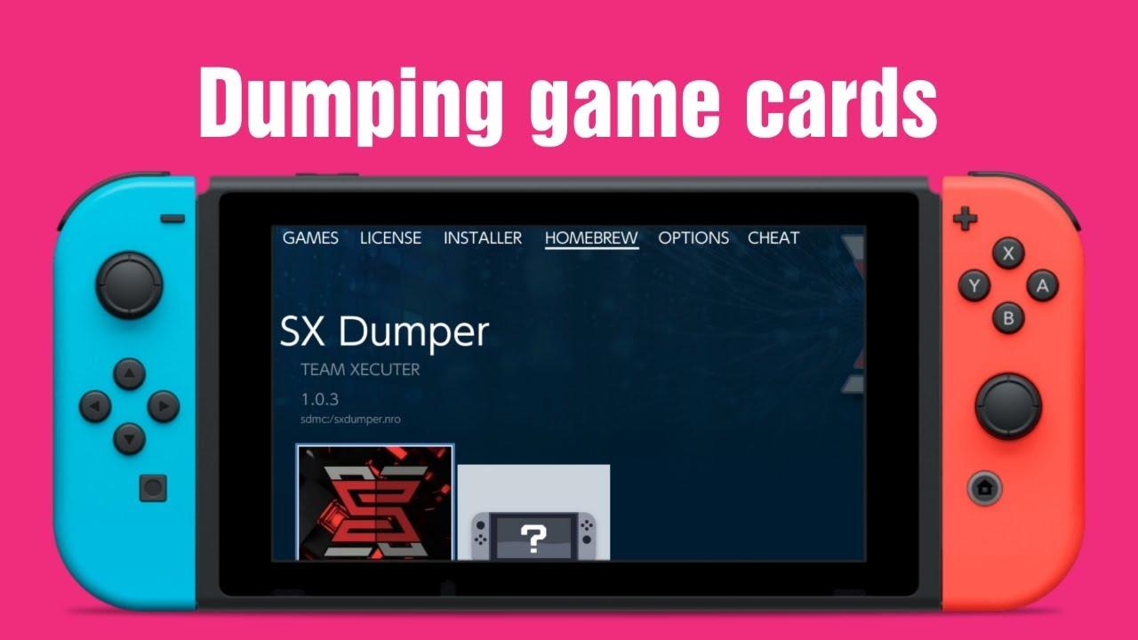 SX Dumper on the Nintendo Switch | HOW TO ニンテンドースイッチ改造:SX  Dumperでゲームカードをダンプする方法