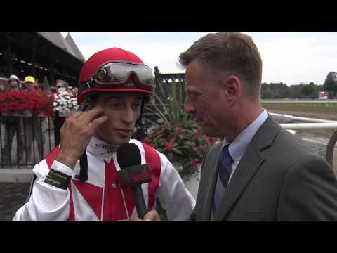 Post Race Interview - Diana Stakes with John Velazquez