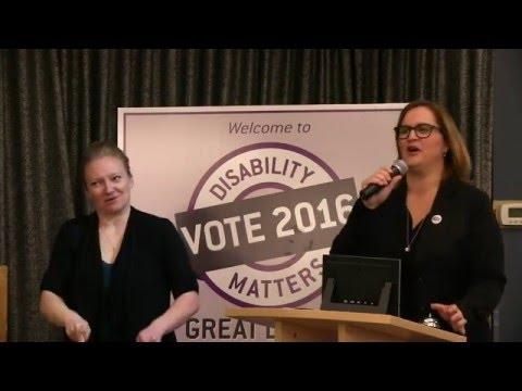 Disability Matters Election Forum 2016 03 31