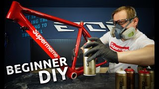 spray paint a bike at home with supreme quality DIY
