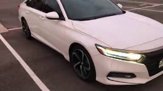 My new white 2018 Honda Accord Sport 2.0T (with tinted windows, A MUST)