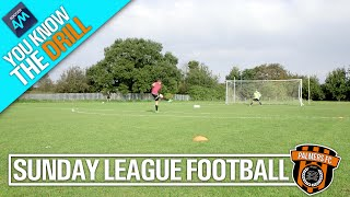 Sunday League Football - YOU KNOW THE DRILL - 2 TOUCH SHOOTING