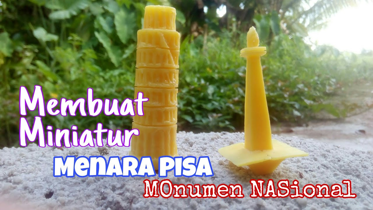 How to Make a Miniature Monument and the Tower of Pisa