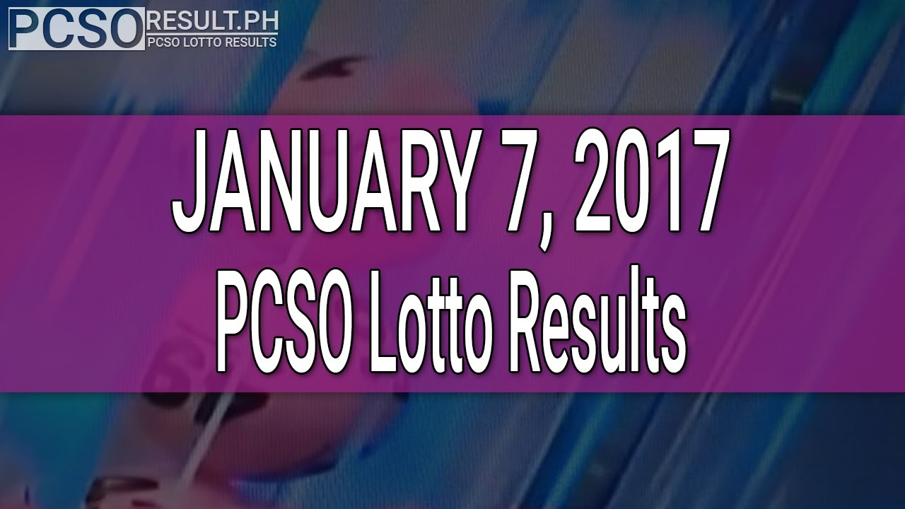 PCSO Lotto Results January 7, 2017 (6/55, 6/42, 6D, Swertres & EZ2) - YouTube