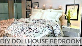 Doll craft: DIY BEDROOM (bed/nightstand/ decor...)