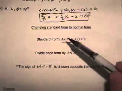 7 6 Normal Form Of A Linear Equation Youtube