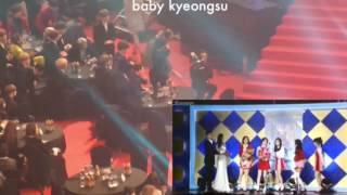 170119 EXO BTS reaction to Red Velvet 26th Seoul Music Awards