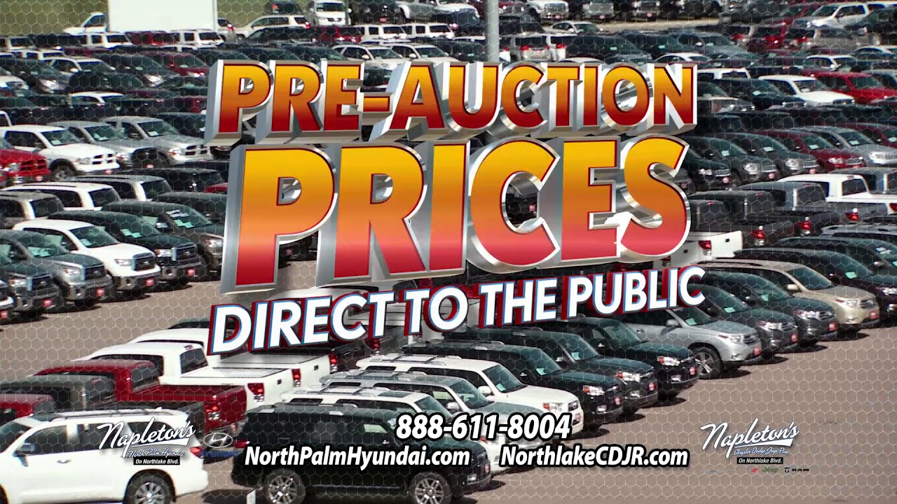 Pre Auction Prices At Napleton North Palm Hyundai On