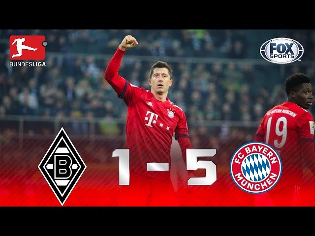 Melhores momentos de Monchengladbach 1x5 Bayern, pela Bundesliga.