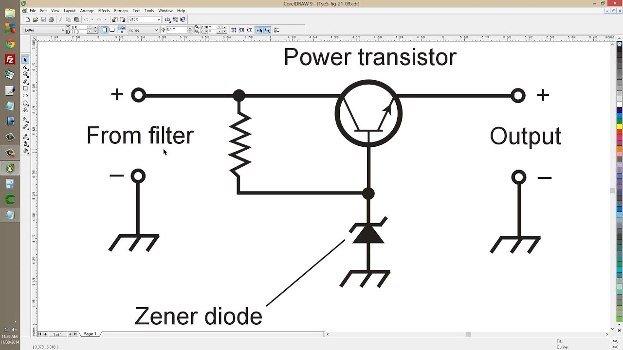 Zener Diode DC Voltage Regulator
