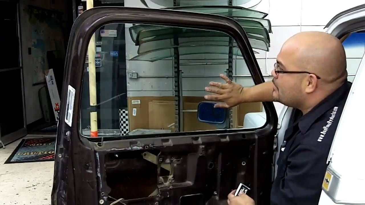 vintage chevy 3100 vent window removal