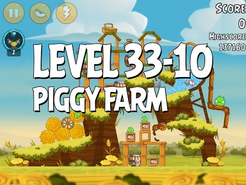 Angry Birds Piggy Farm Level 33-10 Walkthrough 3 Star