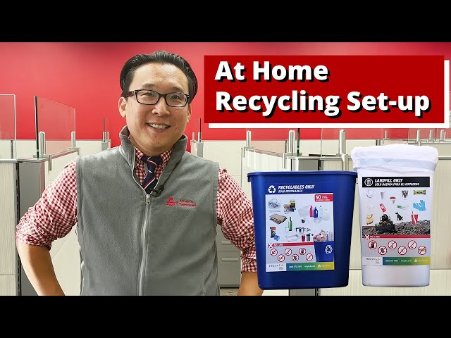 At Home Recycling Set-up