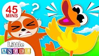 The Duck & Animal Song | Humpty Dumpty, Peekaboo + More Kids Songs & Nursery Rhymes - Little Angel