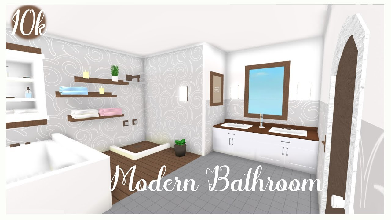Cheap Modern Bathroom!(10k) |Roblox (Bloxburg) - YouTube