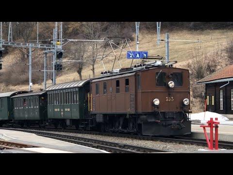 """[FR/DE] RhB Ge4/6 Nr. 353 """"Oerlikoneri"""" - 17.03.2018 - Transports Publics Suisses"""