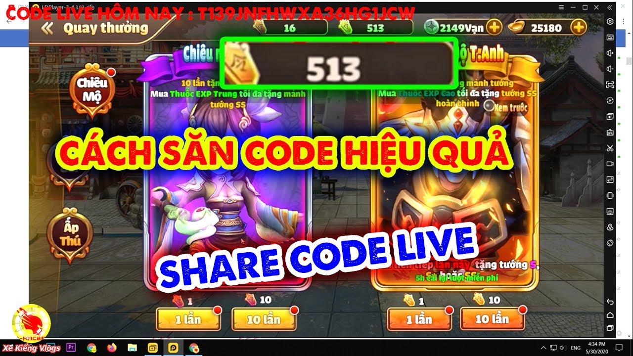 Tam Quốc Tốc Chiến : Cách Săn Code Hiệu Quả , Share Code Live Hôm Nay