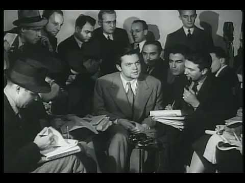 George Orson Welles Interviewed By Journalists After The War Of The Worlds Broadcast