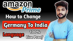 How to Change Amazon Prime Germany language to Indian in hindi