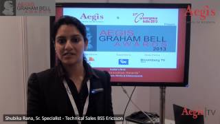 Shubika Rana, Sr. Specialist-Tech Sales, Ericsson at 1st Jury Round of Aegis Graham Bell Awards 2013
