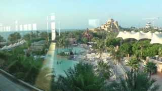Dubai Atlantis Hotel Water Park to The Palm Jumeirah Monorail Trip