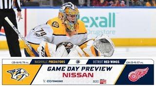 NHL 18 PS4. REGULAR SEASON 2017-2018: Nashville PREDATORS VS Detroit RED WINGS. 02.20.2018. (NBCSN)!