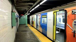 IRT SWATCH Ad-wrapped R142A (6) train at Longwood Avenue (Pelham Bound)