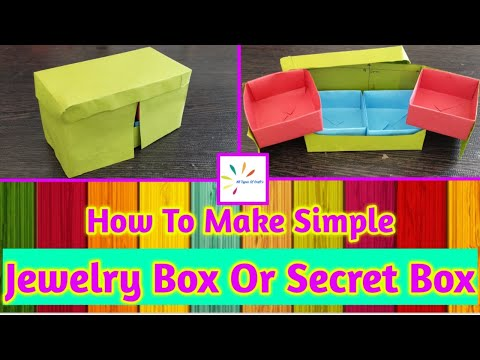 How To Make Simple Jewellery Box Or Secret Box | Jewellery Box | Secret Box | Paper Craft | DIY |