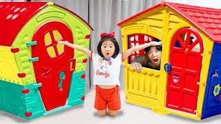 Boram jouer et réparent une maison