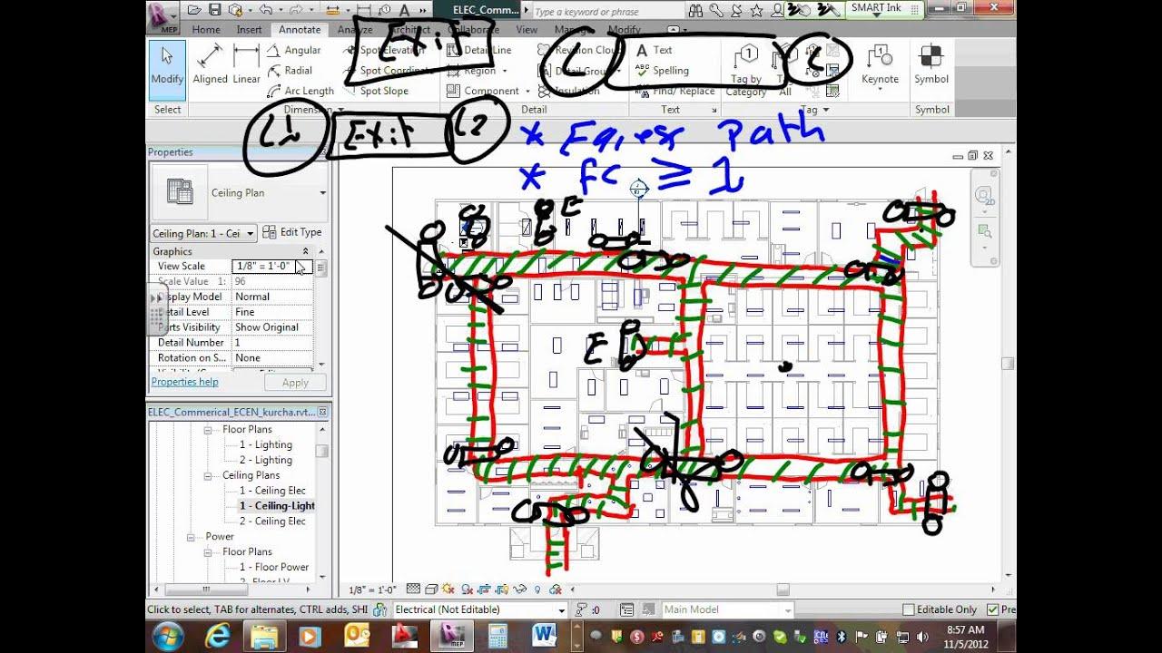 Revit mep commercial project parking lot lighting layout revit mep commercial project parking lot lighting layout circuiting 11 05 12 aloadofball Images