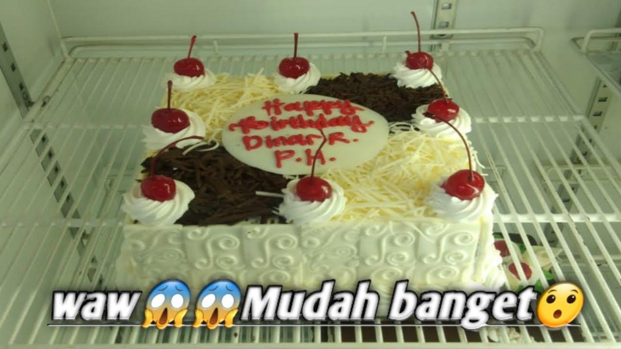 Menghias kue ultah toping Keju dan Coklat || Decorating ...