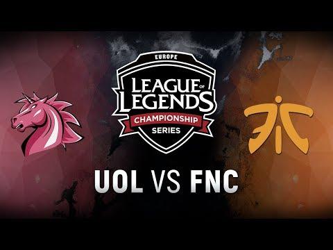 UOL vs. FNC - Week 8 Day 2 | EU LCS Spring Split |  Unicorns of Love vs. Fnatic (2018)