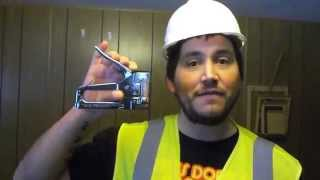 How to load staples into Stanley TR45 Staple Gun