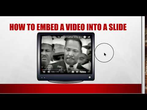 How to Embed or Link a Video into a Slide