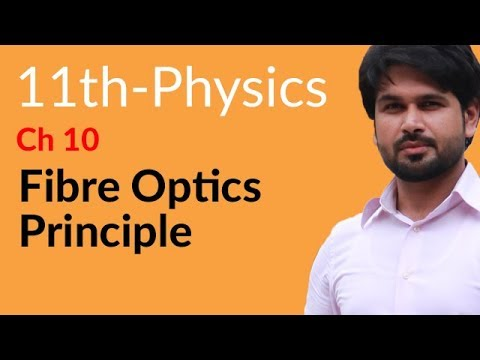 Fibre Optics Principle - Physics Chapter 10 Optical Instruments - FSC Part 1 Pre Medical 11th Class