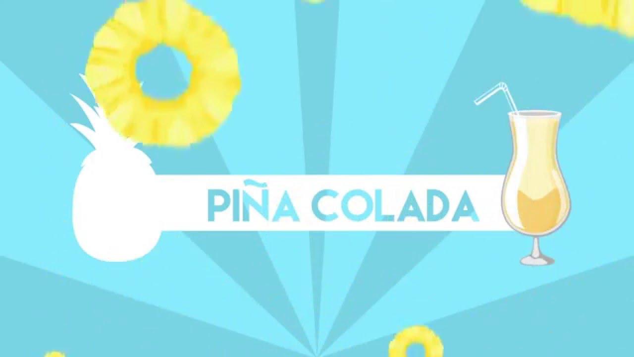 Pina Design cocktail motion design pina colada