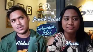 Jawab Cepat - Abdul vs Maria Indonesian Idol 2018