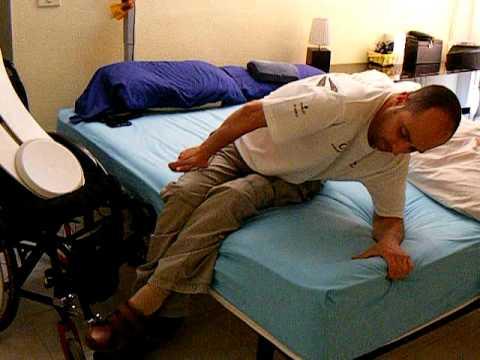 Transferencia cama silla avi youtube - Silla de ruedas de transferencia plegable y portatil ...