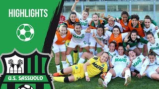 Serie A Femminile: Sassuolo-Juventus 2-1 Highlights