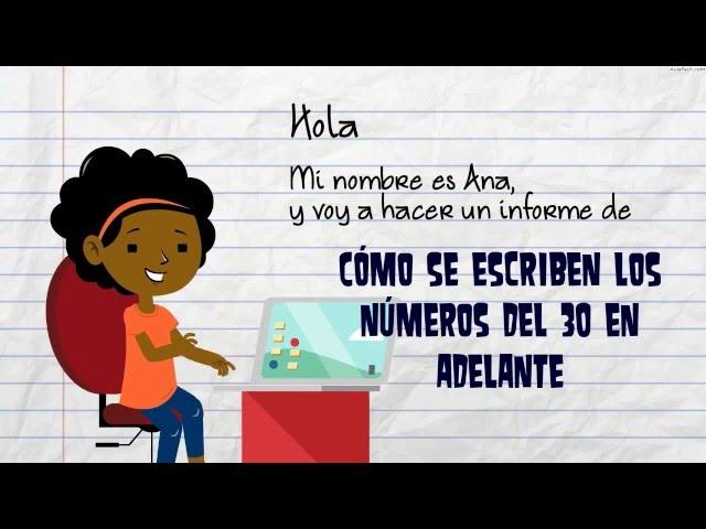 Escritura de números del 30 en adelante