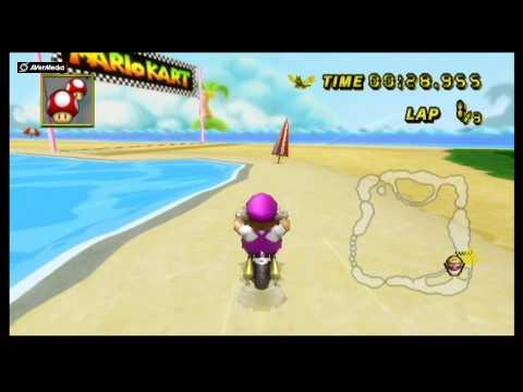 Mario Kart Wii Texture Hack - Wario's Woods Wario