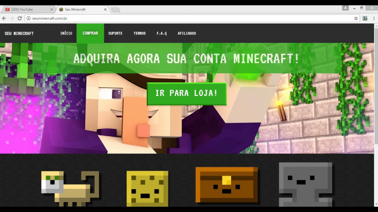 Site De Minecraft Original ! FULL AÇESSO/COMPARTILHADA
