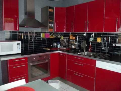 montage cuisine rouge youtube. Black Bedroom Furniture Sets. Home Design Ideas