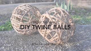 How to Make Decorative Twine Balls