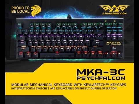Keyboard Mechanical Armaggedon MKA 3C PSYCHFALCON 2017 Edition ...